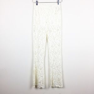 Almost Famous | Boho Lace Bell Bottom Pants